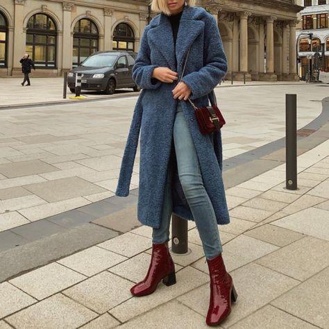 Fashion Casual Wide Lapel Polar Fleece Thicken Warm Long Coat