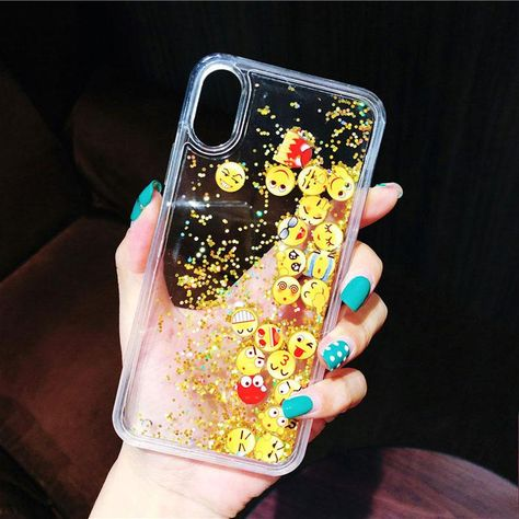 Dynamic Liquid Emoji Case For iPhone X 7 8 Plus 6 6s Back Cover – LABONNI #iphonecase #dynamic #gifts