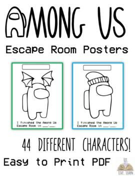 Needing Something For Students To Do When They Break Out Of Your Among Us Digital Escape Room I Have Created Characte Room Posters Escape Room Digital Sticker