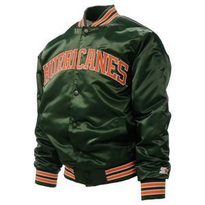 Miami Hurricanes Starter Jacket The U Men S Mr Alan S Jackets Cool Jackets Starter