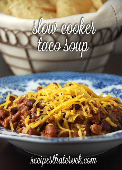 Slow Cooker Taco Soup #CrockPot