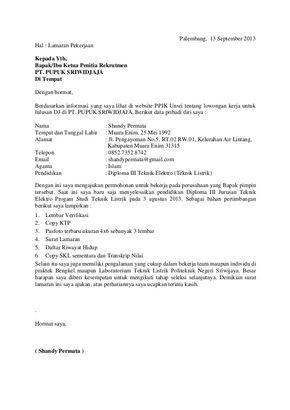 Surat Lamaran Kerja Pdf Ben Jobs Cv Kreatif Surat