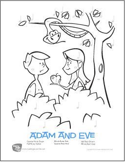 Adam And Eve Free Color By Note Rhythm Worksheet Adam And Eve Bible Coloring Pages Bible Coloring