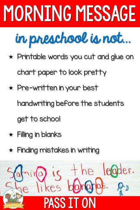Morning Message in Preschool and Pre-K
