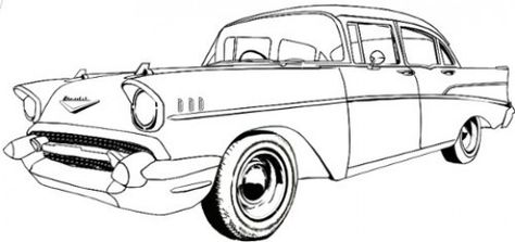 Old Car Line Drawing Chevy S Pinterest Car Drawings