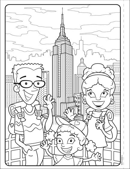 Colors Of The World Empire State Building Crayola Com Crayola Coloring Pages Coloring Pages Free Coloring Pages