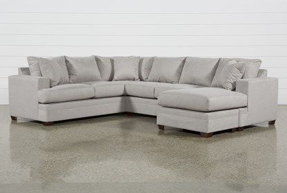 Kerri Cement 2 Piece Sectional With Right Arm Facing Sofa Chaise In 2020 Chaise Sofa 2 Piece Sectional Sofa Sectional