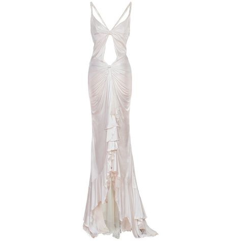 Versace White Dress Gown at Source by marinapolozova White Evening Gowns, White Ball Gowns, Evening Dresses, Prom Dresses, Long Dresses, Dress Long, Dress Formal, Dress Prom, Dress Casual