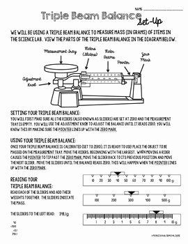 Triple Beam Balance Practice Worksheet Luxury Triple Beam Balance Practice And Candy Lab By A Middle In 2020 Practices Worksheets Practice Worksheets