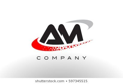 Am Modern Letter Logo Design With Creative Red Dotted Swoosh