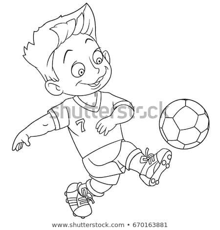 Nice Soccer Cartoon Playing Football Coloring Page Football