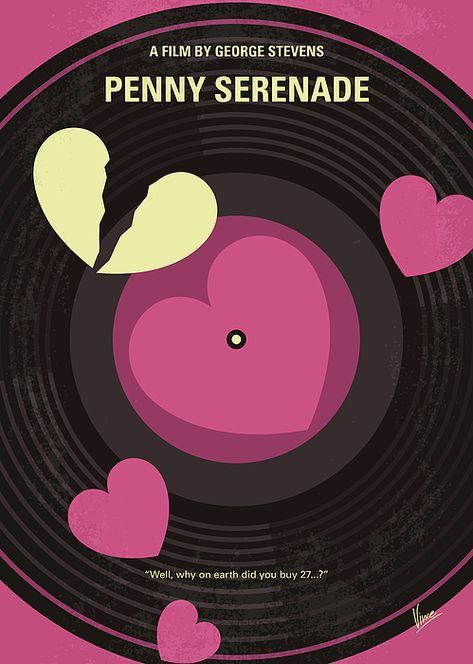 No1252 My Penny Serenade minimal movie poster by Chungkong Art