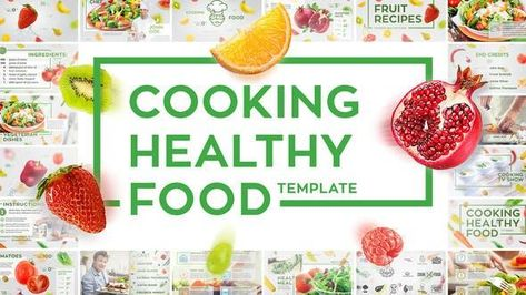 Cooking Healthy Food Recipes Template - After Effects Template