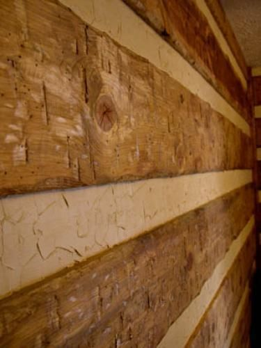 Faux Log Cabin Interior Walls | Installing Log Siding Using Spacer Strips |  ~~GOOD TO KNOW!~~ | Pinterest | Log Siding, Interior Walls And Log Cabins