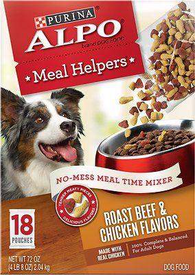 Alpo Meal Helpers Roast Beef Chicken Flavors Dog Food Mixer 4