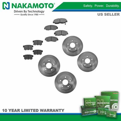 Front and Rear Premium Quality Ceramic Brake Pads Kit VTDC000059