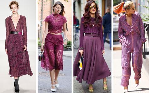 Looks com a Cassis: cor tendência de Conheça as outras 4 cores escolhida… – Fashion Trends 2020 Modadiaria 每日时尚趋势 2020 时尚