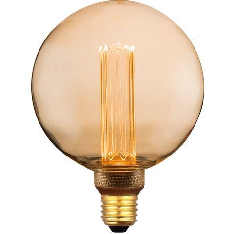 Ampoule Décorative Led à Filament Ambré Sphérique E27 200 Lm