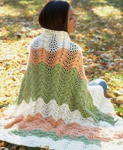 Neutral Melon Crochet Ripple Afghan | AllFreeCrochetAfghanPatterns.com