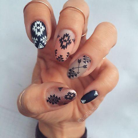 Nail Shapes - My Cool Nail Designs Fancy Nails, Pretty Nails, Rodeo Nails, Hair And Nails, My Nails, Jamberry Nails, Western Nails, Ninas Nails, Black And White Nail Art
