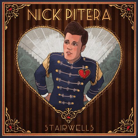 """Finalized album art for Nick's upcoming EP """"Stairwells"""". Love it! ❤️"""