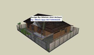 Konstruksi Atap Rumah Limasan Minimalis Modern Denah Desain
