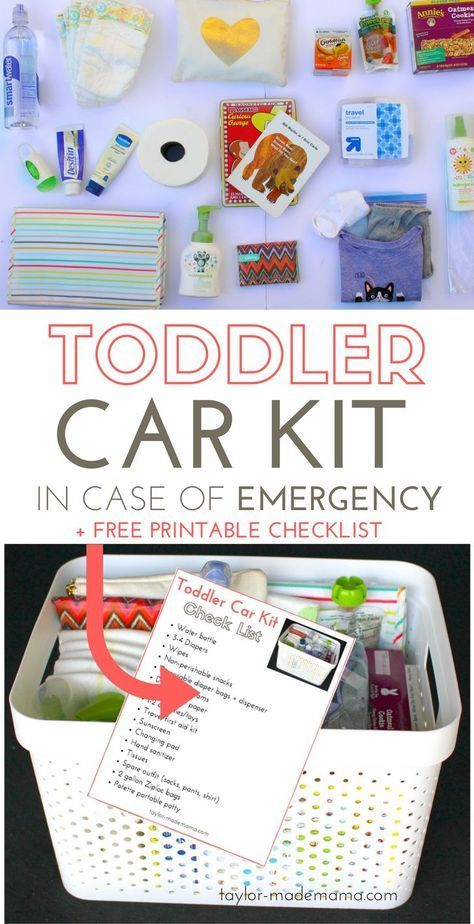 Everything You Need In An Emergency Car Kit For Your Toddler