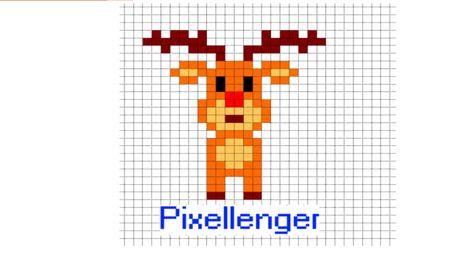 Santa Claus Deer Pixel Art пиксельные изображения