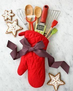 Idee Regalo Natale In Cucina.Oggetti Fai Da Te Semplici Idea Regalo Guanto Da Cucina Rosso Con