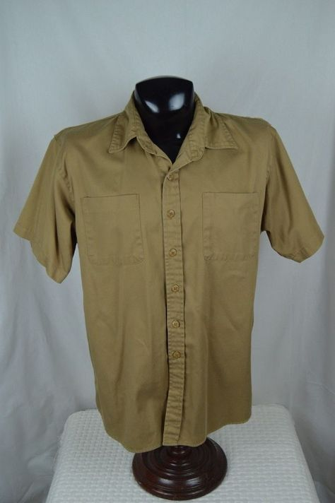 #Jesse #James #Work #shirt #large #L #SS #Khaki #NICE #EUC  #WestCoastChoppers #Mechanic #JesseJames
