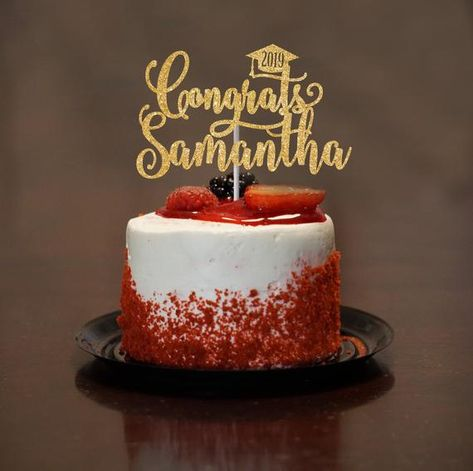 Retirement Personalized Cake Topper Wedding Gold Glitter Birthday Graduate Marry Birthday name Custom Cake Topper Custom Text Cake Topper Bride