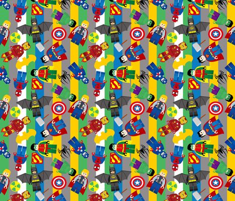 Lego superheros fabric by pink posh on spoonflower custom fabric lego superheros fabric by pink posh on spoonflower custom fabric chair re cover project for the boys pinterest custom fabric spoonflower and voltagebd Image collections