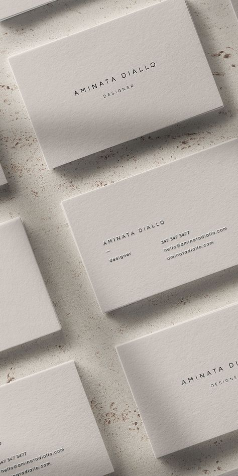 Diallo: A Modern Business Card Design with Sleek and Minimal Font — The Denizen Co. Business Cards Layout, Letterpress Business Cards, Minimalist Business Cards, Elegant Business Cards, Business Card Templates, Best Business Cards, Creative Business Cards, Lawyer Business Card, Letterhead Business
