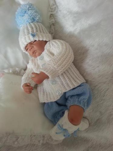 Jack Horner KNITTING PATTERN TO MAKE FOR BABY//REBORN BOY 0-3 MONTHS