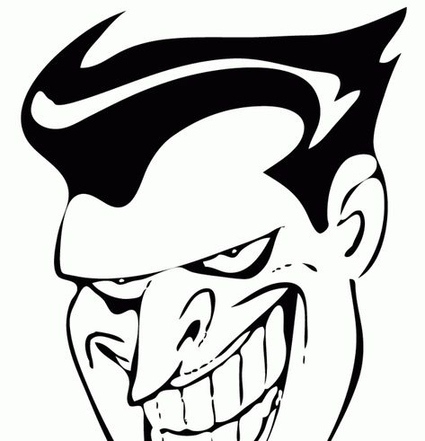 Sketsa Gambar Kartun Keren Joker Hitam Putih