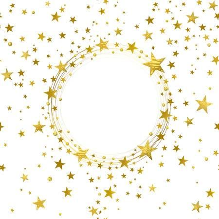 Round Banner Of Gold Stars On White Background Gold Stars Gold And Black Wallpaper Star Background