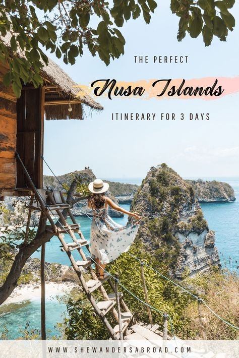 The Perfect Nusa Islands Itinerary for 3 Days - The perfect 3 days itinerary for exploring the Nusa Islands in Bali! Discover the best places to visit on Nusa Lembongan, Nusa Ceningan and Nusa Penida! #bali #nusaislands #nusapenida #nusalembongan #nusaceningan #indonesia #travel #itinerary
