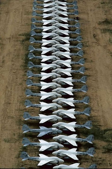 Decommissioned Grumman A6 Intruders Stored At The Davis Monthan