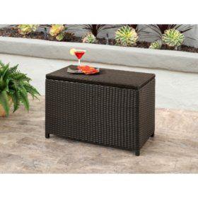 Outstanding Outdoor Wicker Storage Box 24 X 44 Sams Club Marie Home Remodeling Inspirations Gresiscottssportslandcom