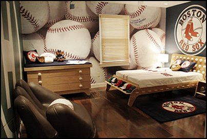 baseball bedroom wallpaper photo - 5