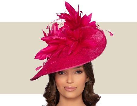 Belfort Fascinator Hat Fuchsia In 2021 Fascinator Hat Fascinator Fancy Hats