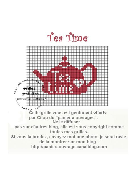 Cross Stitch Pattern Kettle and Cup of tea silhouette monochrome kitchen Counted Cross Stitch Patterns Instant Download Epattern PDF File