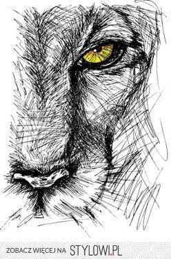 81d7f35421ab62 głowa lwa rysunek - Szukaj w Google na Stylowi.pl   Obrazy   Rysunki ...