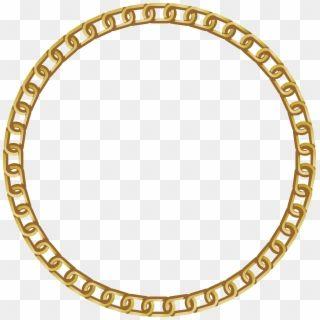 Chain Goldchain Golden Frame Round Gold Frame Png Transparent Png Gold Circle Frames Circle Frames Flower Frame Png