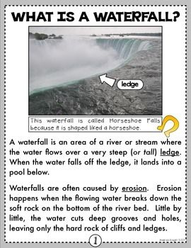 Wonderful Waterfall A Nonfiction Smarticle About Niagara Falls Grades 2 4 Nonfiction Fiction Comprehension Nonfiction Articles