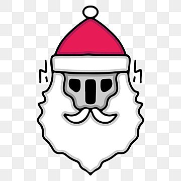 Hype Skull Wearing Santa Hat Illustration For Sticker And Merchandise Winter Christmas Holiday Png And Vector With Transparent Background For Free Download Skeleton Sticker Christmas Illustration Holiday Illustrations