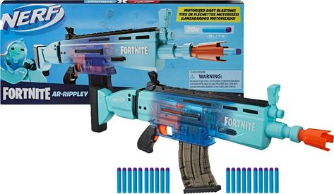 Shop Hasbro Nerf Fortnite AR-Rippley Motorized Elite Dart Blaster at Best Buy. Find low everyday prices and buy online for delivery or in-store pick-up. Pistola Nerf, Cool Nerf Guns, Nerf Darts, Nerf Toys, Ar 15 Builds, Yelawolf, Sonic Screwdriver, Star Wars Outfits, Toy R