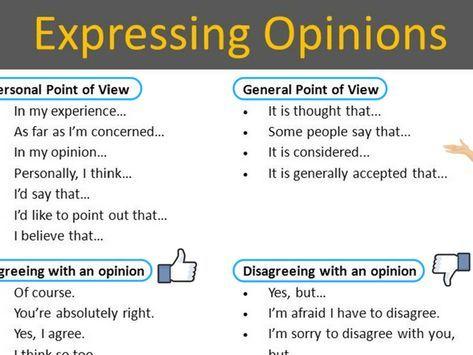 expressing opinion sentences