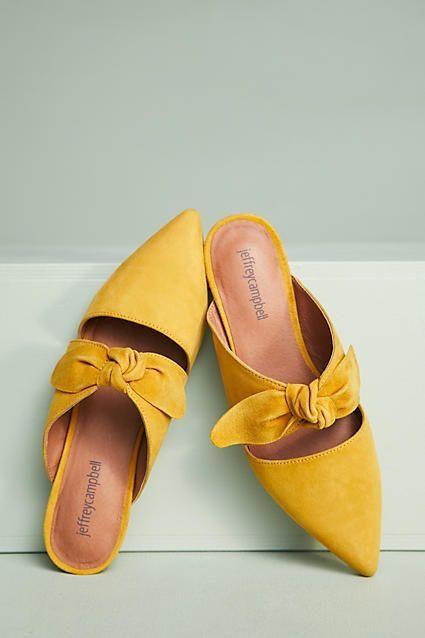 Slipper, Sommerschuhe, Mules in gelb. | Frühlingsschuhe