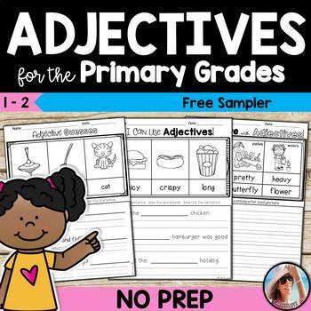 Free Adjectives Worksheets Adjective Worksheet Adjectives Adjectives Activities Free adjective worksheet for grade